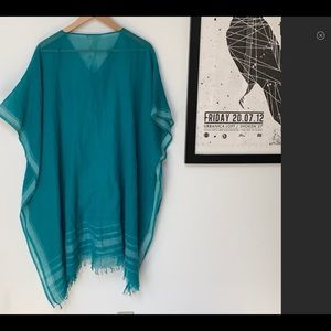 Eileen Fisher Handloomed Cotton Poncho Coverup
